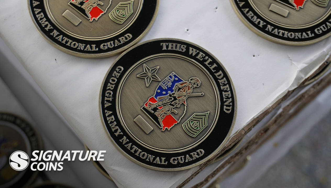 Our Signature Coin Minting Process - Signature Coins