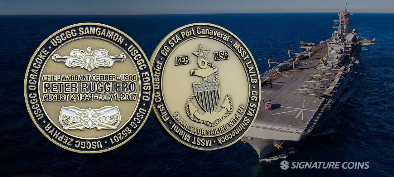 Signature Coins Navy Ship Challenge Coins4