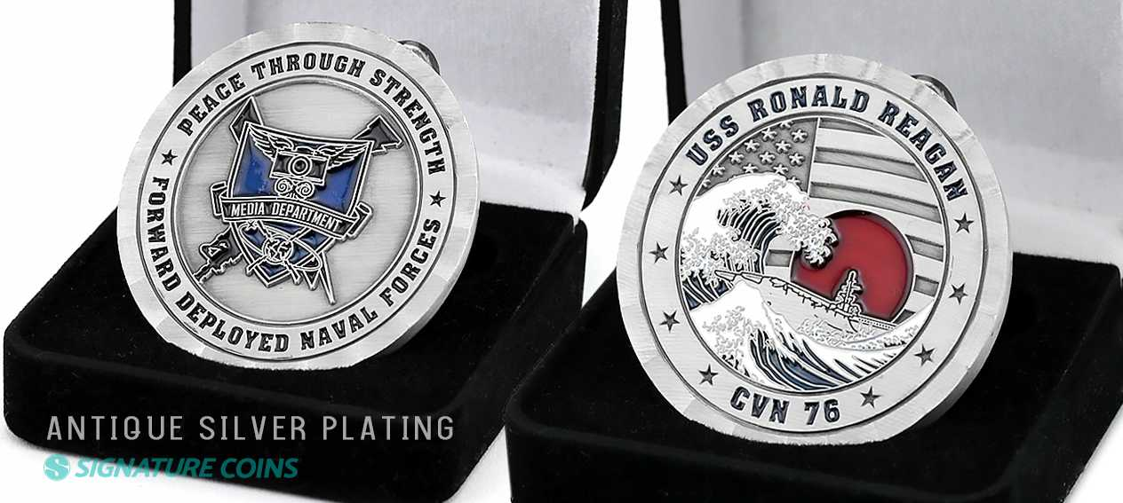Navy Ship Challenge Coins - Signature Coins