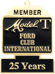 Ford Club International Member 25 Years