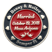 Marine Corps Wedding Challenge Coin Side 2