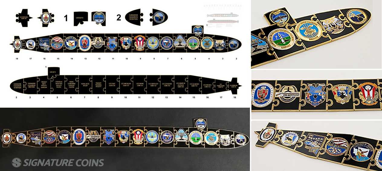 Signature Coins Navy Ship Challenge Coins8