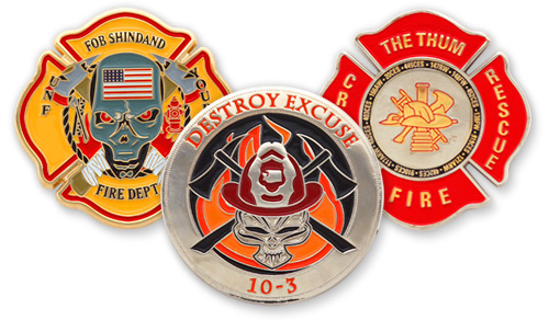 Custom Challenge Coins Honor Firefighters' Bravery
