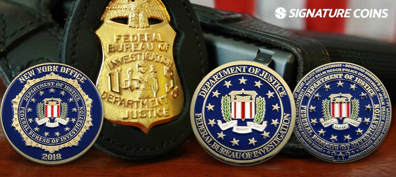"""FBI Federal Bureau of Investigation 2.5/"""" Black Emblem Antique Gold Bottle Opener"""
